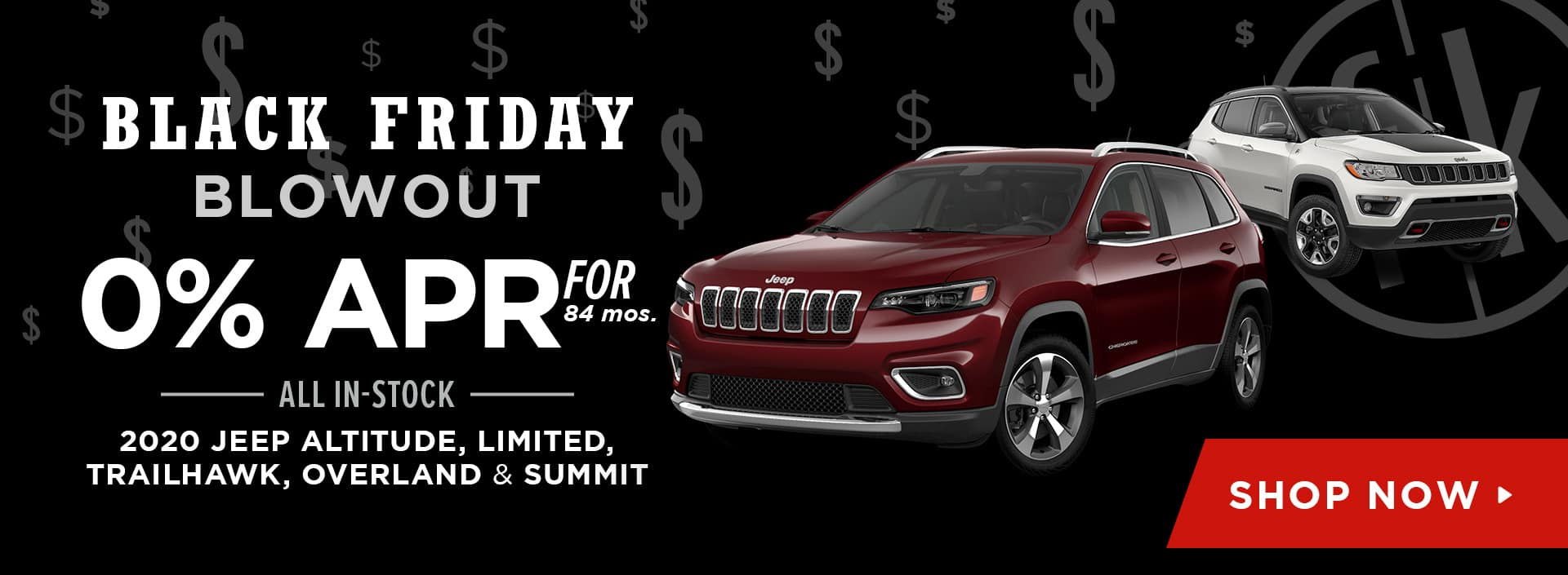 0% for 72 mos. All In-Stock 2020 Jeep Altitude, Limited, Trailhawk, Overland & Summit