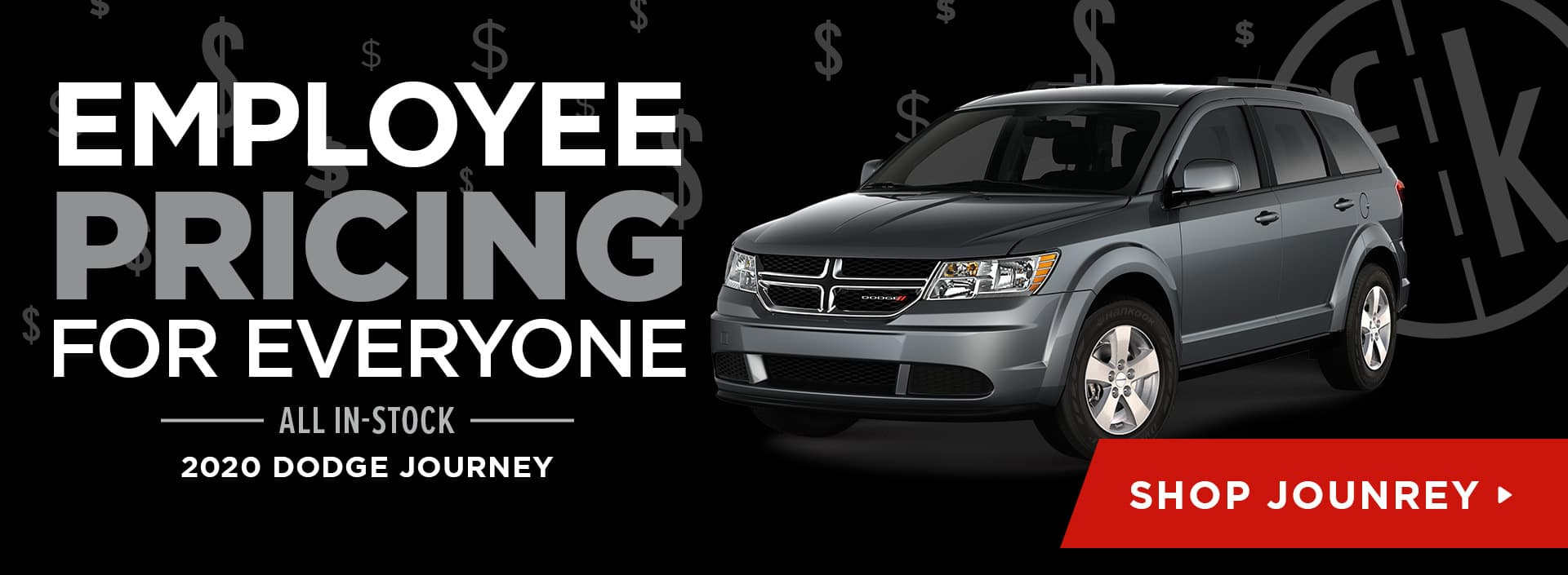 Employee Pricing All In-Stock 2020 Dodge Journey