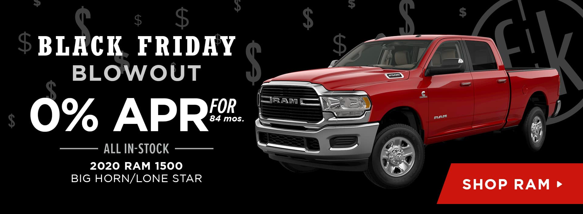 0% for 84 mos. All In-Stock 2020 RAM 1500 Big Horn/Lone Star