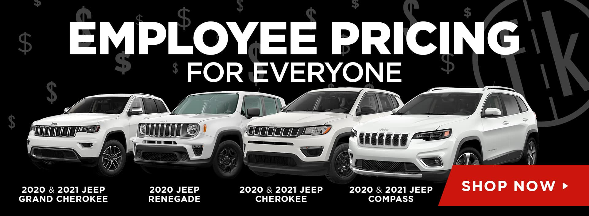 Employee Pricing For Everyone On Select Jeep Models