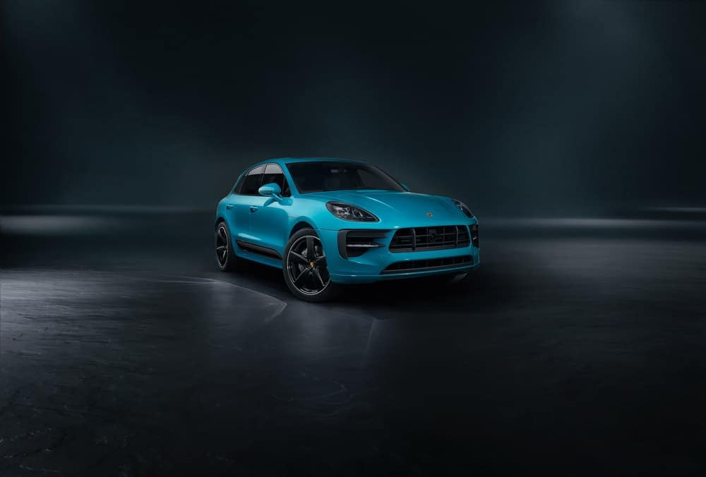 2019 Porsche Macan in blue