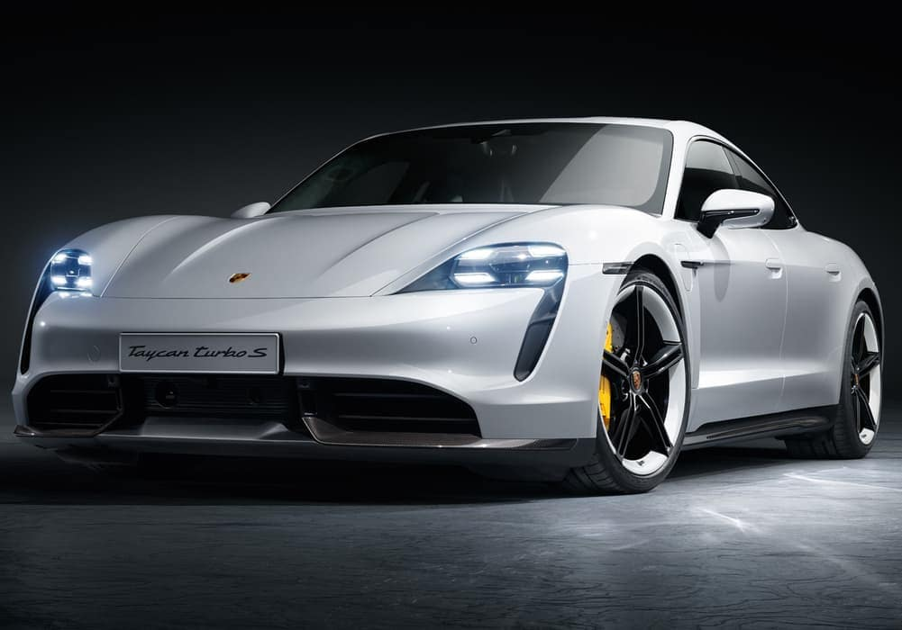 2020 Porsche Taycan Turbo S in white