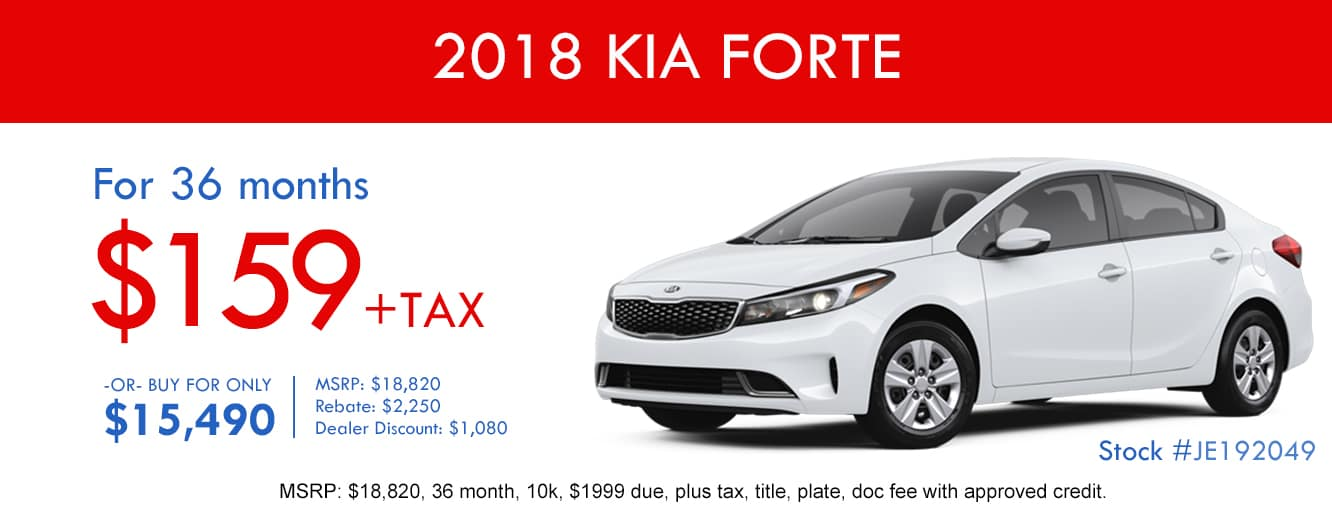 2018 Kia Forte October Lease Special