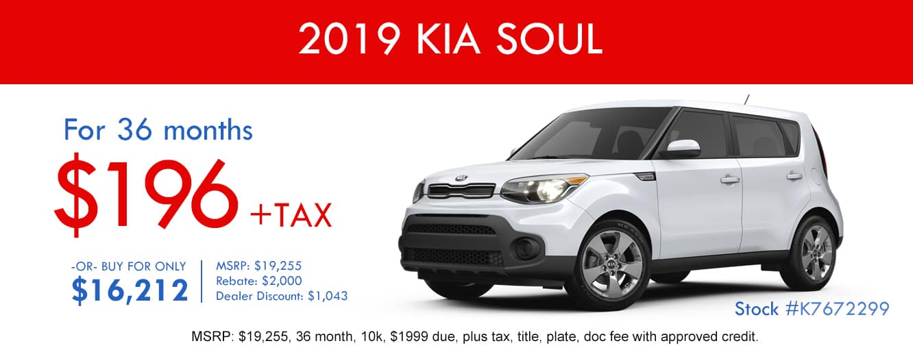 2019 Kia Soul October Lease Special