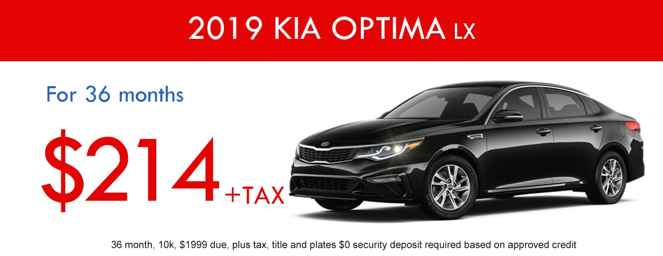 2019 Kia Optima LX November Lease Special