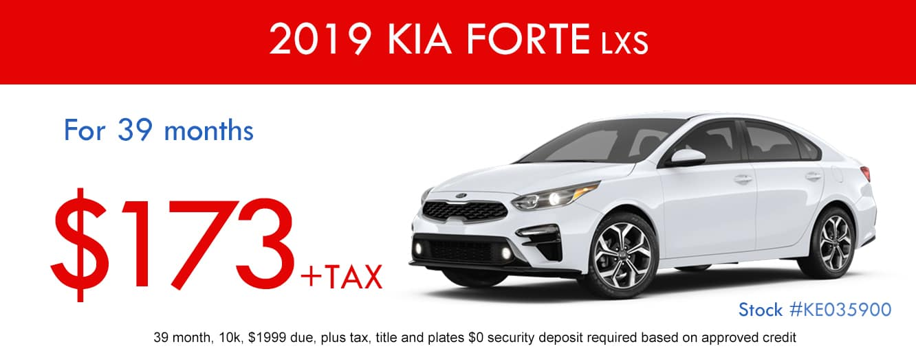 2018 Kia Forte LXS January Lease Special
