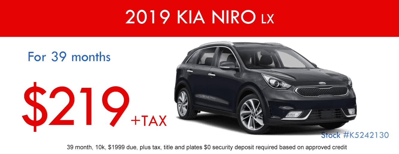 2019 Kia Niro LX January Lease Special