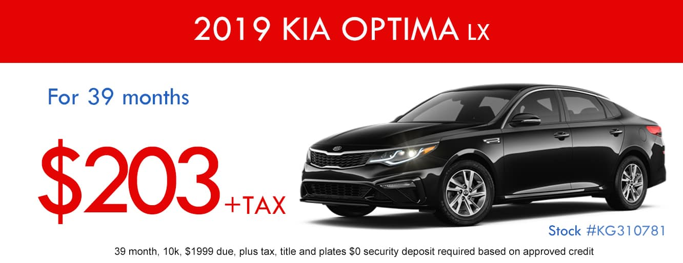 2019 Kia Optima LX January Lease Special