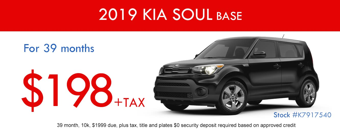 2019 Kia Soul Base January Lease Special