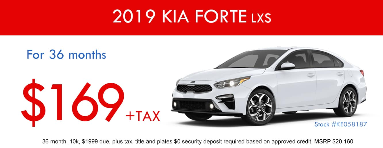 2019 Kia Forte LXS April Lease Special