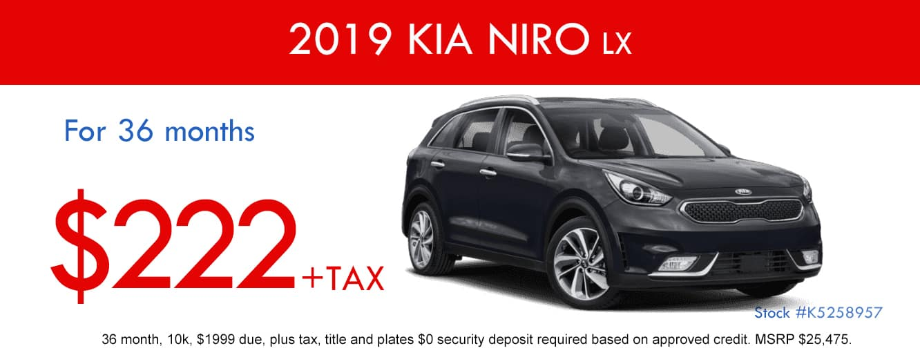 2019 Kia Niro LX April Special