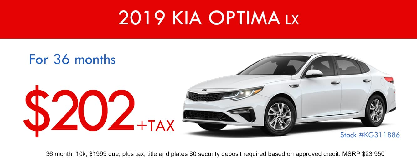 2019 Kia Optima April Lease Special
