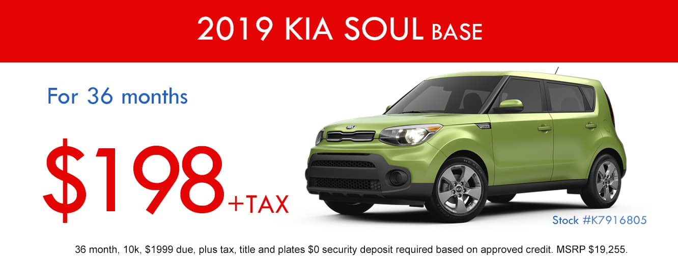 2019 Kia Soul Base April Lease Special