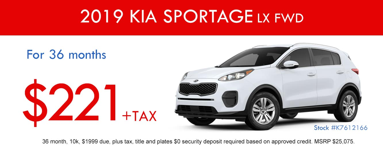 2019 Kia Sportage LX FWD April Special