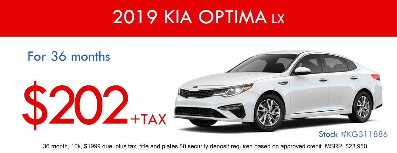 2019 Kia Optima Lease Special