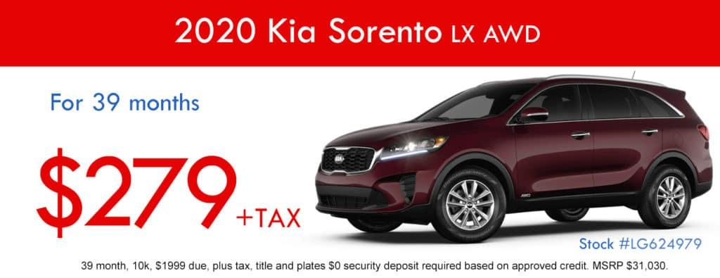 2020 Kia Sorento LX AWD