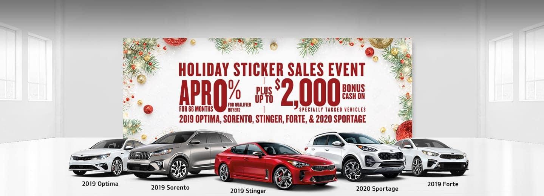 Kia Holiday Sticker Sales Event in Southfield MI