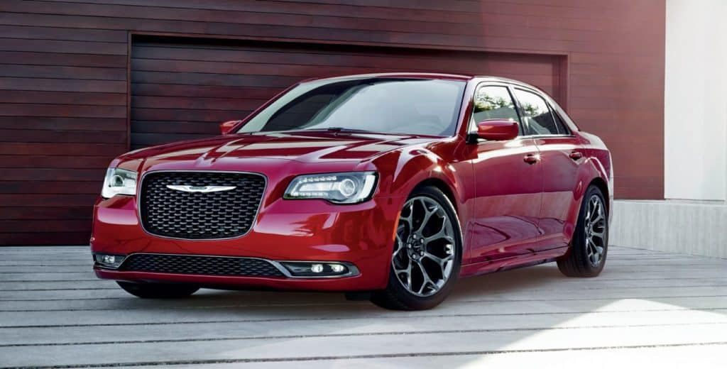 2018 Chrysler 300 sedan cherry red