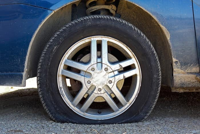 Flat car tire and how to prevent it