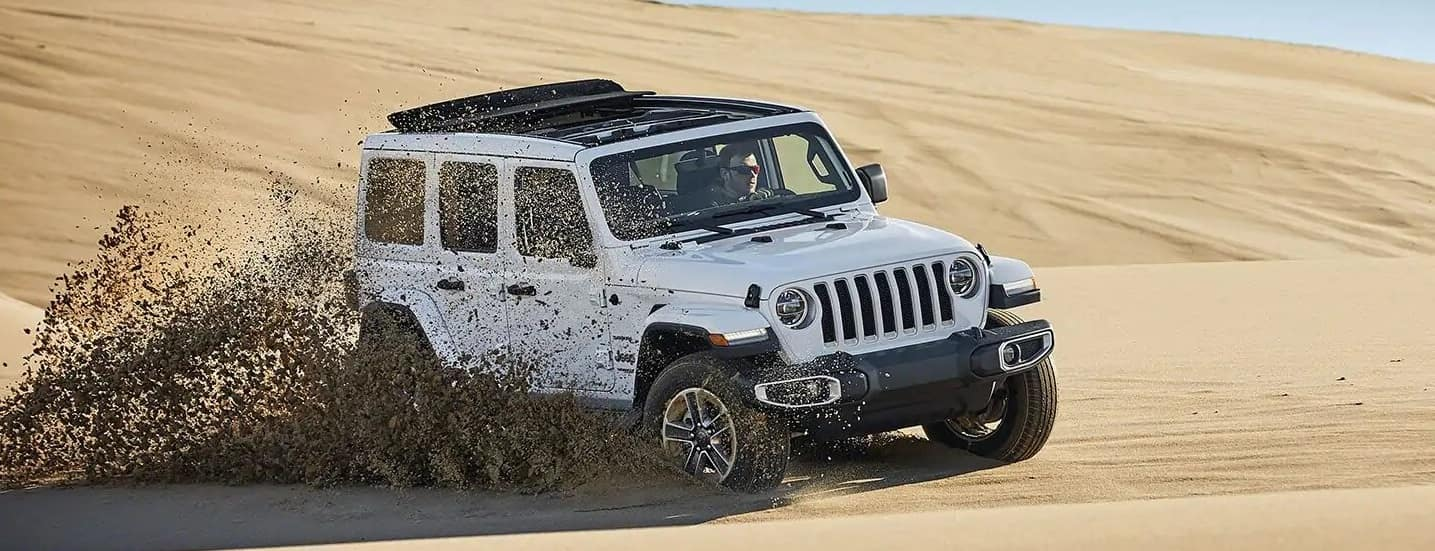 White JEEP Wrangler
