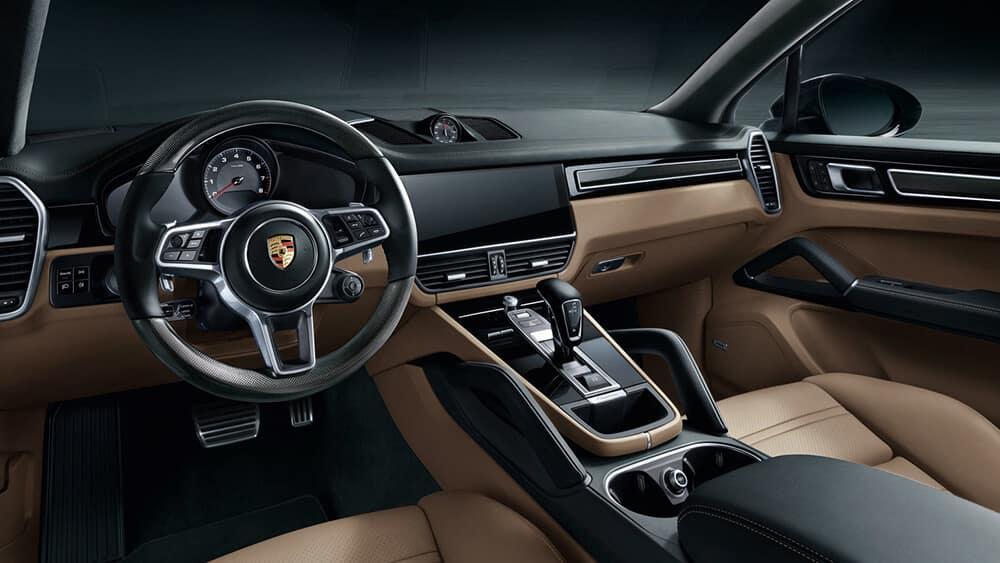 2018 Porsche Cayenne Interior Front Seating and Dashboard Features