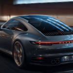 2019 Porsche 911 driving in city
