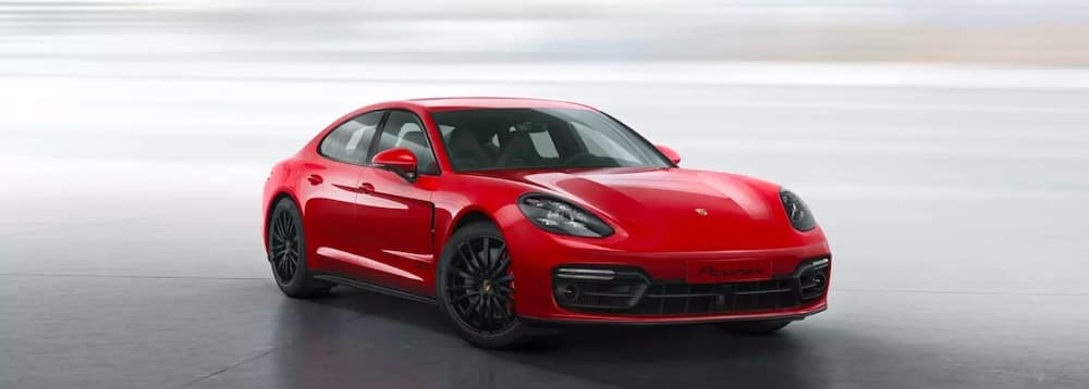 2019 Porsche Panamera in red