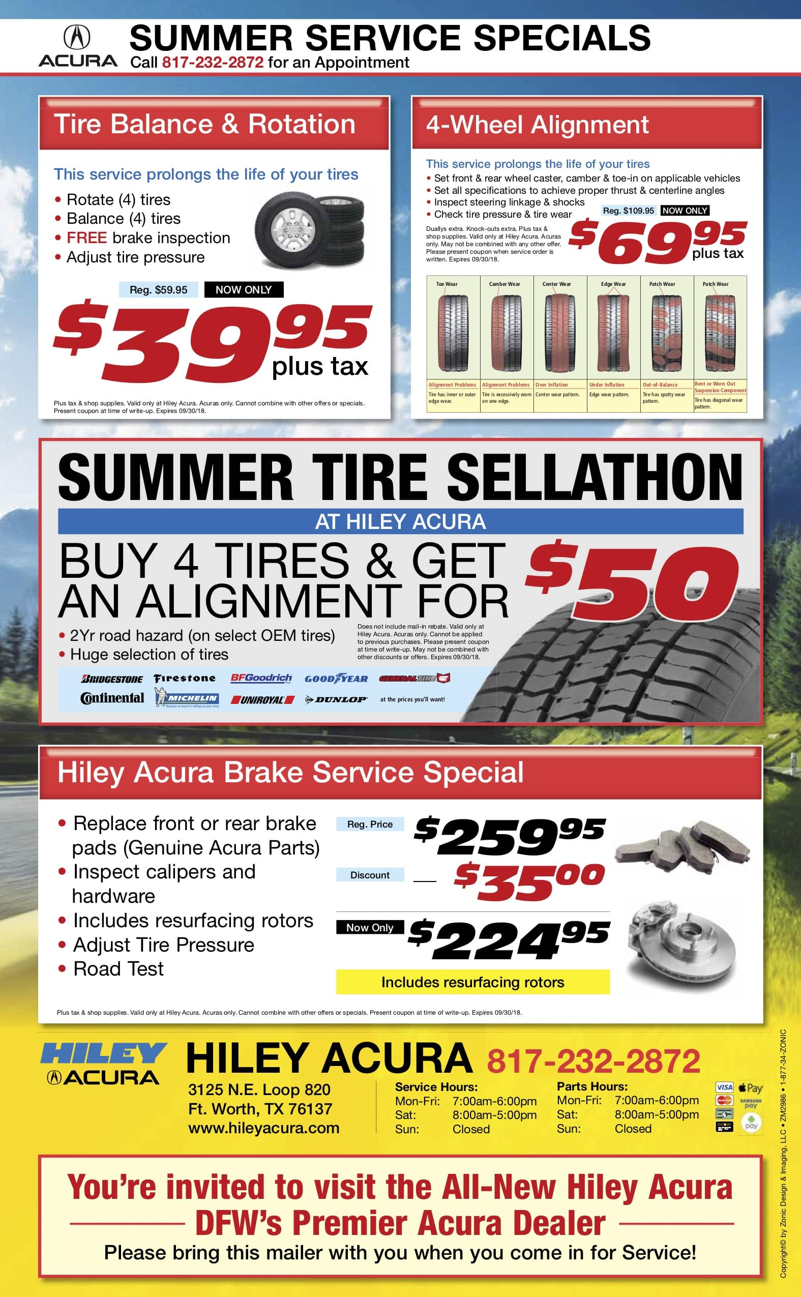 acura service coupons specials near fort worth north richland