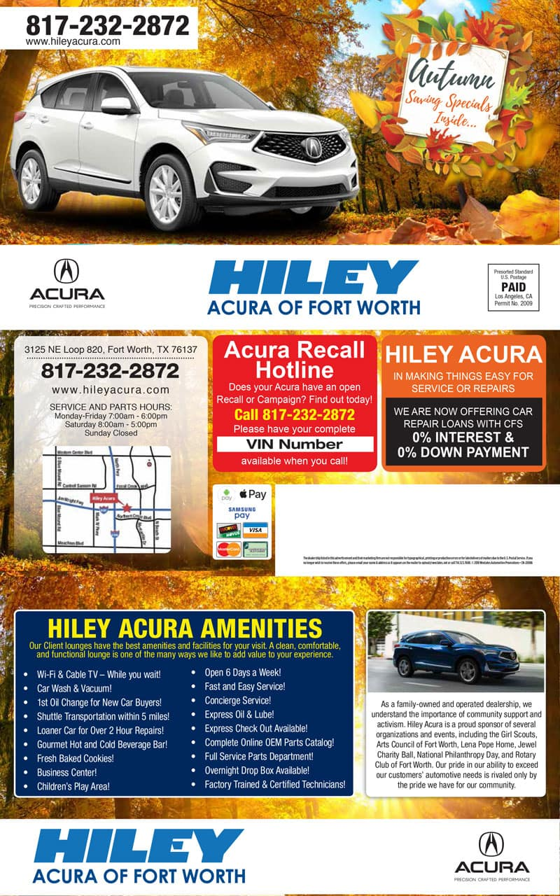 Acura Service Coupons Specials Near Fort Worth North Richland - Acura coupons oil change