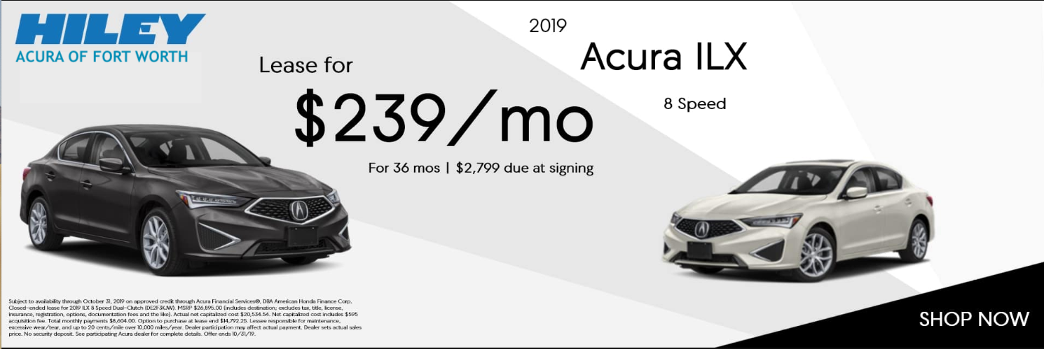2019 Acura ILX 8-Speed Lease for $239 per month