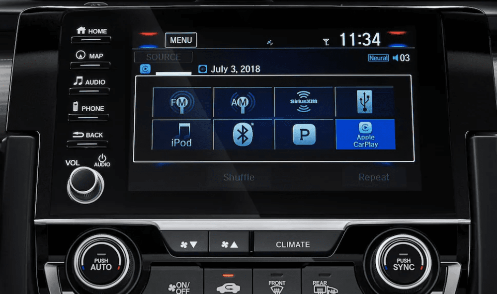 Honda Civic infotainment touchscreen