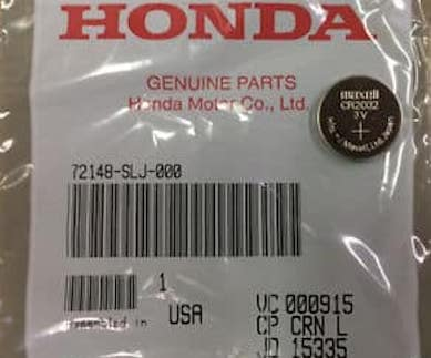 Honda key fob battery in plastic packaging
