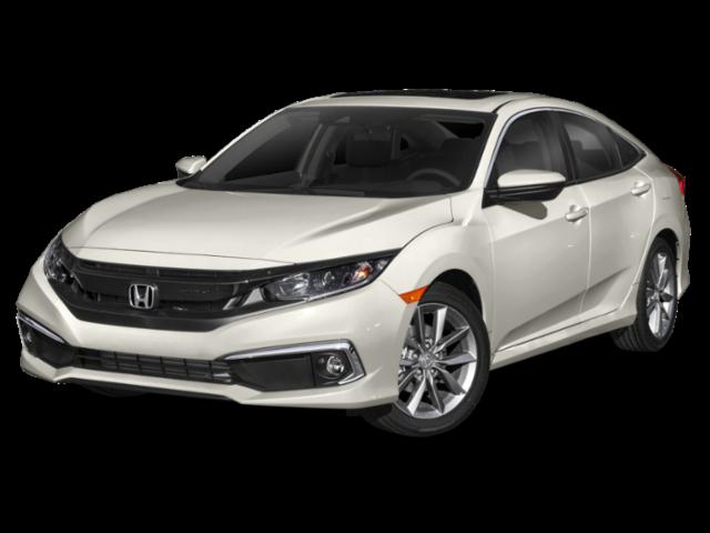 White 2019 Honda Civic EX