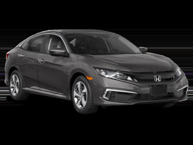 Gray 2019 Honda Civic LX