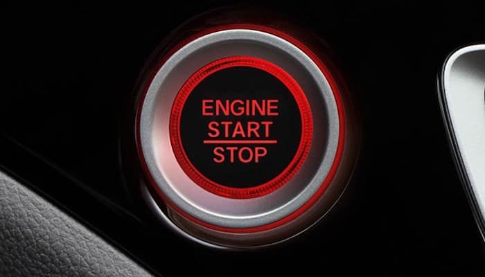 Closeup of Honda Pilot Start Stop button