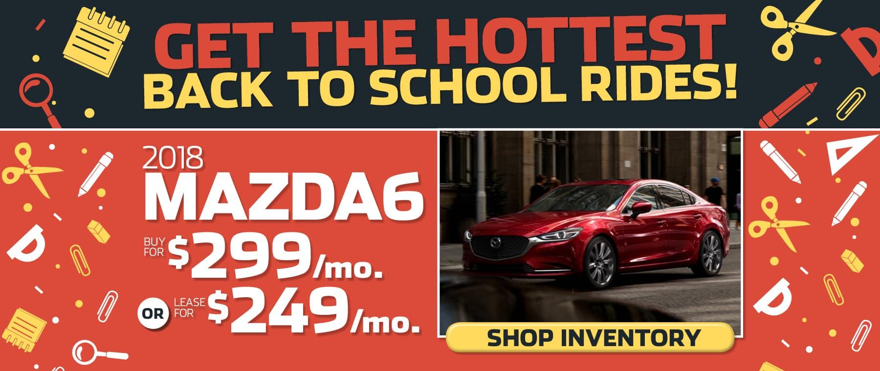Mazda6 August 2018 Banner