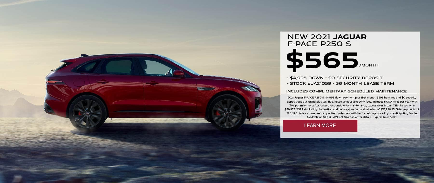 June 2021 – F-PACE P250 Lease
