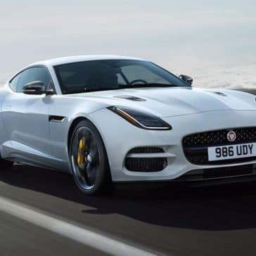 2019 jaguar f type coupe f type r in yulong white with silver weave carbon fiber packages