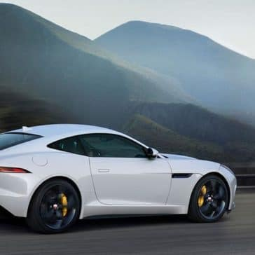 2019 jaguar f type r in yulong white driving