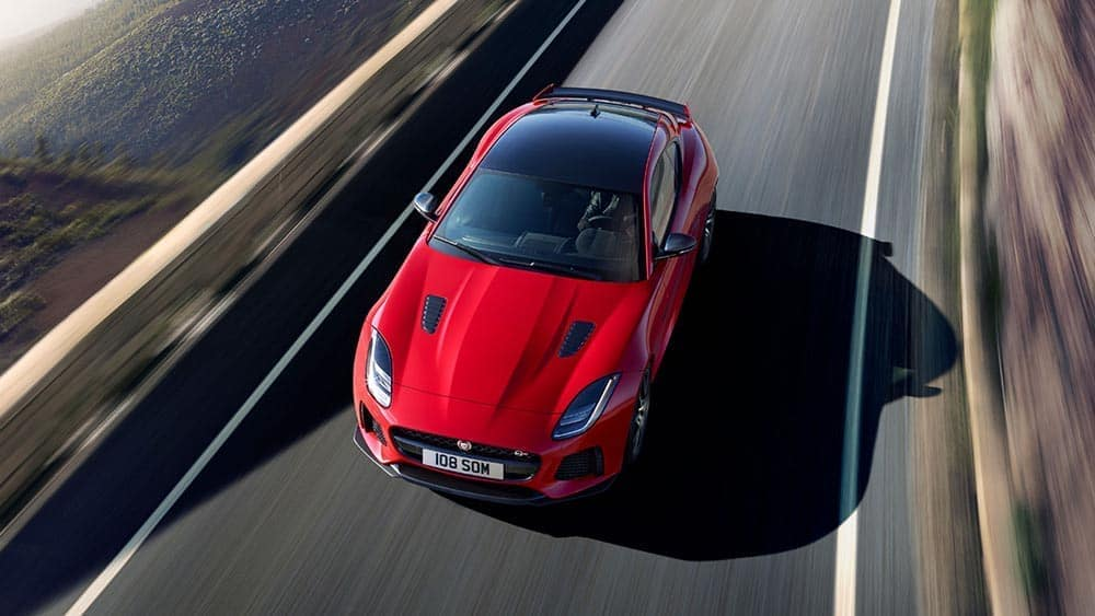 2019 jaguar f type svr in caldera red with optional features fitted