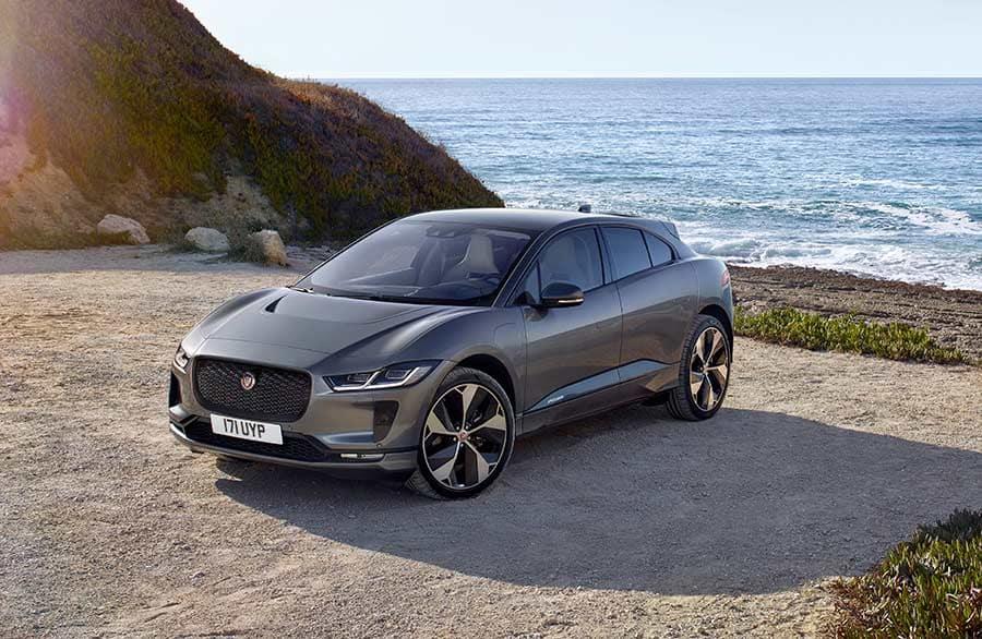 Jaguar I-PACE overlooking a beach