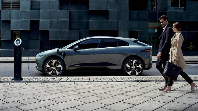 2019 Jaguar I-PACE Parked Charging on Side of Road