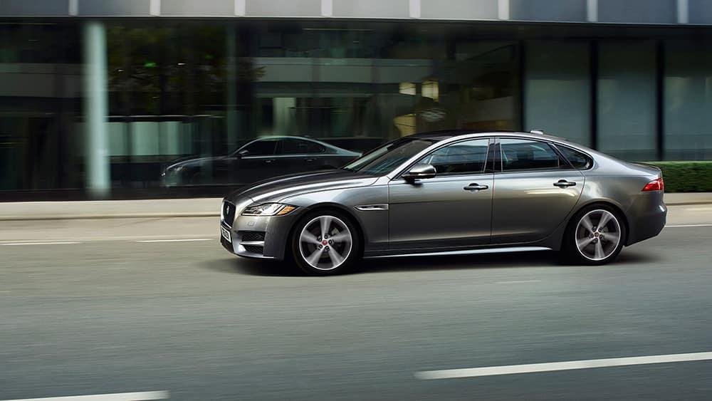 2019 Jaguar XF luxury sedan exterior side view