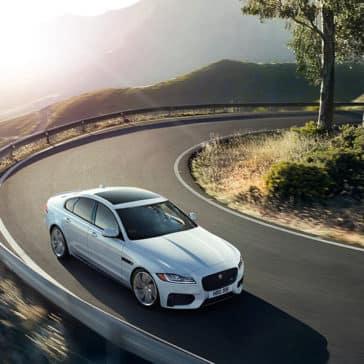 2019 Jaguar XF luxury sedan front side view