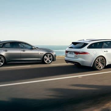 2019 Jaguar XF sportbrake and Jaguar XF sedan side view