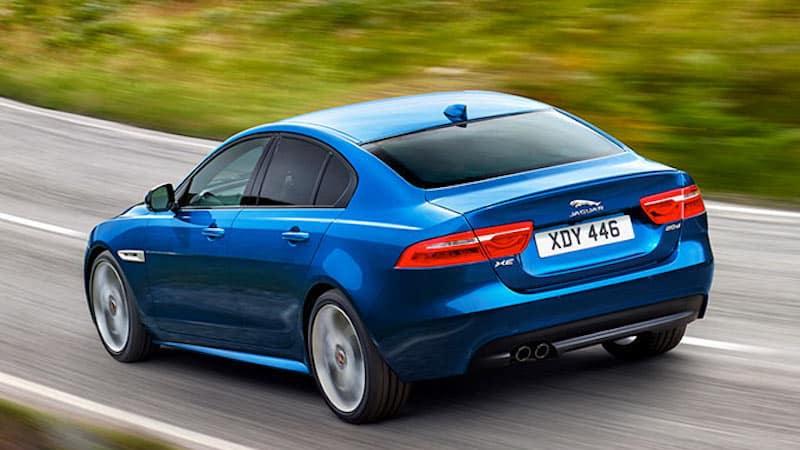 Jaguar Blue XE Driving