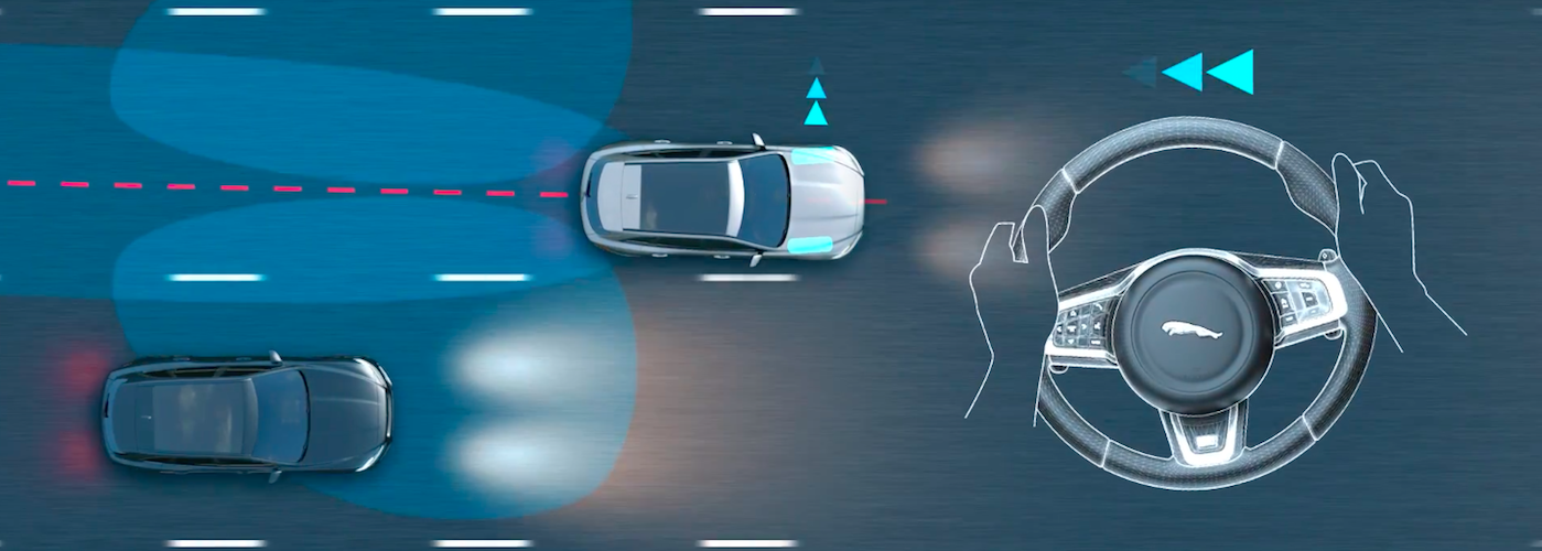 Visual dramatization of how Blind Spot Assist works