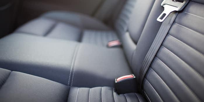 Closeup of fabric seats