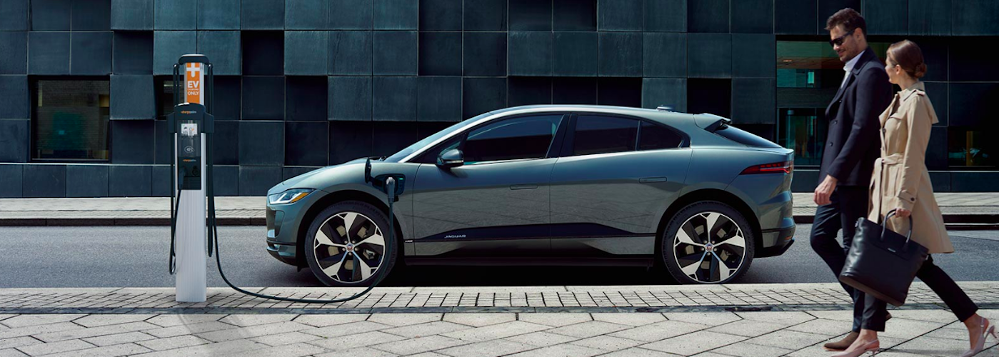 Jaguar I-PACE at charging station
