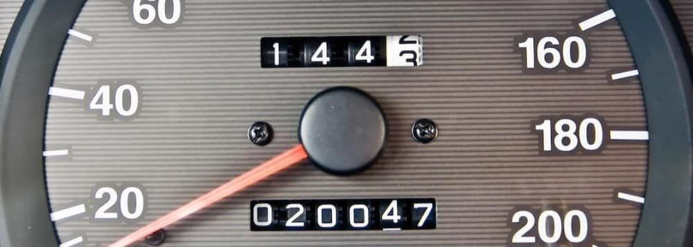 Close on Odometer of Vehicle showing 20047 miles driven